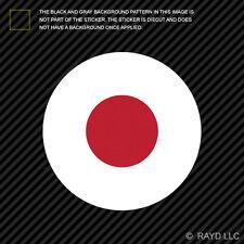 Round Japanese Flag Sticker Die Cut Decal Self Adhesive Vinyl Japan JPN JN