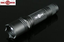 Solarforce L2 18650/CR123A Forward Clicky Flashlight Body Host - Black