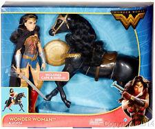 "2017 DC Wonder Woman Movie 12"" Doll Series Wonder Woman & Horse Set NEW!"