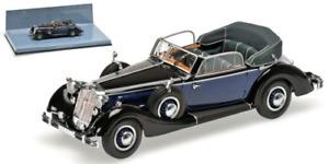 Minichamps 436012036 - HORCH 853A CABRIOLET – 1938 – BLACK/BLUE L.E. 336 PS