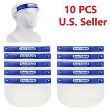 10PCS Safety Full Face Shield Reusable Protection Cover Face Eye Cashier Helmet