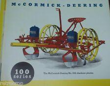 IH McCormick-Deering Richmond Planter Brochure w/ Seed Plate Listing Corn & Pea