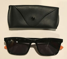 Ray Ban RB7025 Black Rectangle Fashion Sunglasses W New Grey POLARIZED Lenses