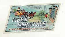 12oz Irtp Ale Bottle Label by The Finks Brewing Co Harrisburg Pa