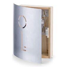 Zeller Cassetta per chiavi in faggio e acciaio inox