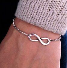 Armband Armkette Infinity unendlichkeit Herz Anhänger Silber Armschmuck Männer