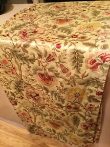 WAVERLY IMPERIAL DRESS CURTAIN PANEL,LINED,JACOBEAN FLORAL,FABRIC,GUC