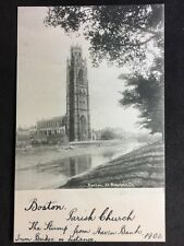 RP Vintage Postcard - Lincolnshire #B30 - Boston, St Botalphs Ch - 1902