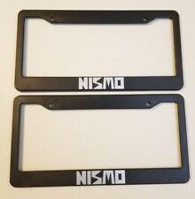 NISMO logo plastic license plate frames holder Nissan 350z 370z GTR juke r32 r34