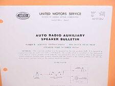 1954 1955 BUICK ROADMASTER SUPER CENTURY DELCO RADIO REAR SPEAKER SERVICE MANUAL