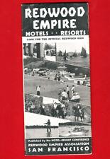 1936 Pamphlet REDWOOD EMPIRE North Coast CALIFORNIA Hotels RESORTS Travel MAPS