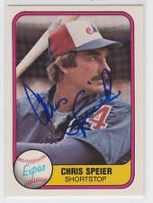 Autographed 1981 Fleer Chris Speier - Expos