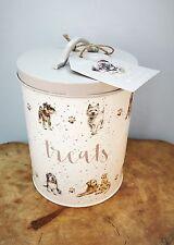 Wrendale Design Dog Treat Tin, Food Container,Spaniel, Labrador,Pug