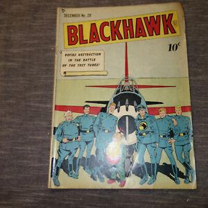 Blackhawk #28 DECEMBER 1949 -- GOLDEN AGE WAR COMIC- (kf)