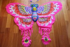 Cerf-volant chinois papillon rose 3D-Chinese kite-aquilone cinese-cometa china 4