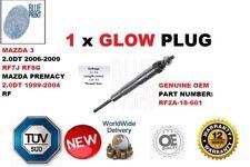 FOR MAZDA 3 PREMACY 2.0DT DIESEL RF 1 GLOW PLUG NEW RF2A-18-601