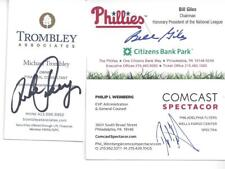 FORMER ORIOLES, TWINS & DODGERS PITCHER MIKE TROMBLEY SIGNED BUSINESS CARD