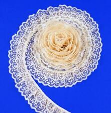 Natural~DOUBLE Ruffle 2 Inch Candlewick Lace Trim~By 5 Yards