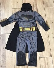 Boys Batman Justice Of League Costume Dress With Muscles Cape Mask Age 7/8 Years