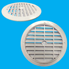 6x Blanc Rond Air Ventilation Grille Housse 123mm 100mm Trou Ventilation,10.2cm
