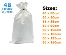 XL 10 Extra Large Woven Polypropylene PP Rubble Sacks Heavy Duty Size 60x100cm