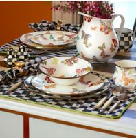 NWT Macenzie Childs Courtly Check/ Courtly Stripe Reversible Placemat