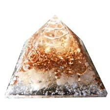 Orgone Pyramid Crystals Rock Clear Quartz Wealth & Expression Energy Orgonit