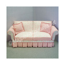 Doll House 12th Scale : Shabby Chic pink Sofa