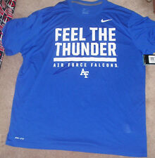 NEW NCAA Air Force Falcons Feel The Thunder Dri Fit NIKE 2XL XXL NEW NWT