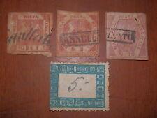 Lotto di 3 francobolli POSTA NAPOLETANA Grano 1 2 10 Regno di Napoli Boprboni da