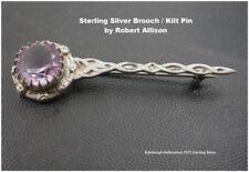 Amethyst Brooch/Pin Vintage Fine Jewellery (1970s)