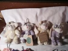 Boyds Bears Angel Ornaments (2) Purple, and (2) Yellow 6""