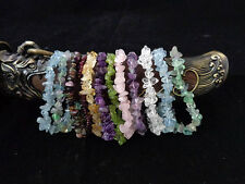 Stretch Gemstone chips bracelet * Power stone* Lucky stone*energy stone*