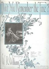 Sheet Music Don't You Remember The Time 1919