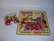 Vintage 1959 Rare Mid Century Popeye Checkers Set