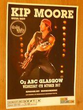 Kip Moore + Drake White & The Big Fire - Glasgow oct. tour concert gig poster