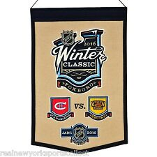 2016 NHL WINTER CLASSIC WOOL BANNER BOSTON BRUINS VS MONTREAL CANADIENS 1/1