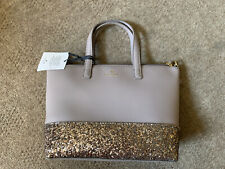 Bnwt Authentic Kate Spade New York Brown & Glitter Bag Sparkly