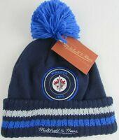 Winnipeg Jets NHL Acrylic Knit Cuff Mitchell & Ness Blue Winter Beanie