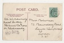 Totland Bay 1904 Single Ring Postmark on Postcard, B423