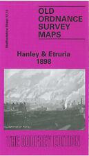 OLD ORDNANCE SURVEY MAP HANLEY & ETRURIA 1898