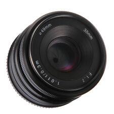 35mm f/1.7 Manual Focus Lens for Olympus Panasonic Micro M4/3 Mount Camera