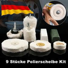 9tlg Polierscheibe mit Polierpaste Politur Polierköpfe Felgen Chrom Polierset DE