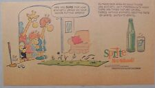 "Sprite ad: Funny Mort Walker Giraffe Artwork! 1960's Third Page Size:  ""Golf"""