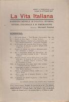 LA VITA ITALIANA RASSEGNA ANNO V N. LVIII 15 OTTOBRE 1917 PREZIOSI ANTISEMITISMO