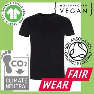 Tee t-shirt tshirt Vegan Climate Neutral Fair Trade organic Men's unisex black w