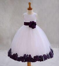 Flower Girl Dress Wedding Bridesmaid Birthday Pageant Graduation ROSE PETAL NEW