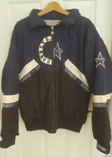 Vintage Dallas Cowboys Stitched Triple Fat Goose Stadium Jacket Sz L EUC Rare