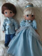 Disney ENCHANTED CINDERELLA & PRINCE CHARMING SET Precious Moments Doll RARE