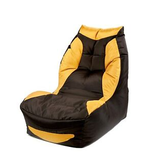 Bean Bag Play Station Gaming Chair Black & Yellow Without beans for gaming gift